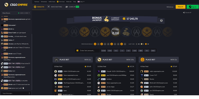 CSGOempire Website