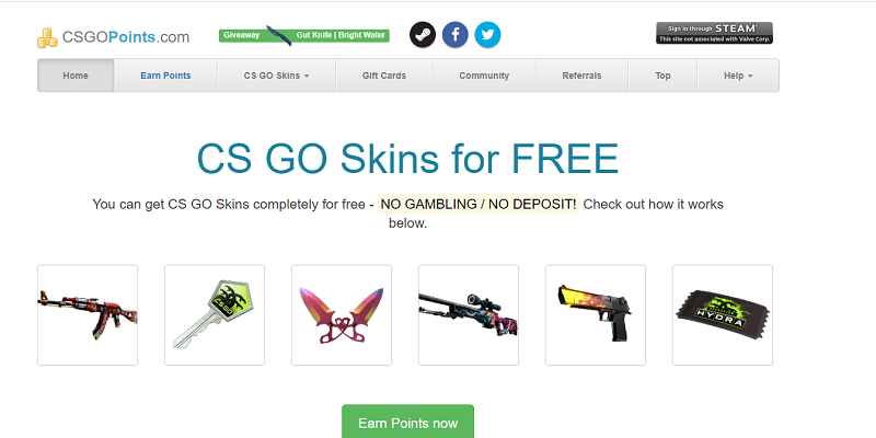 CSGOPoints website