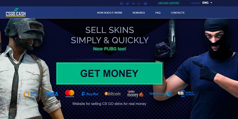 csgo.cash website