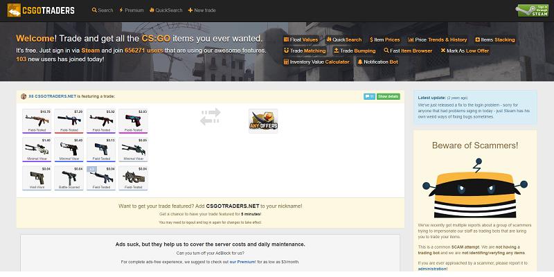 CSGOTraders website
