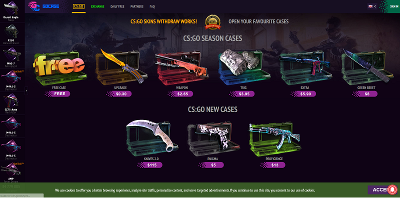 GOCase website